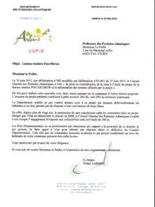 LETTRE MAIRE D'ARBUS
